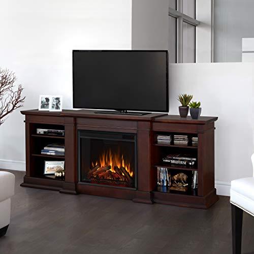 Real Flame Fresno Electric Fireplae Media Fireplace Large Dark Walnut 0