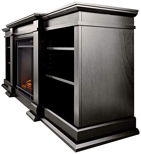 Real Flame Fresno G1200 X B Entertainment Unit in Black with Electric Fireplace 0 0