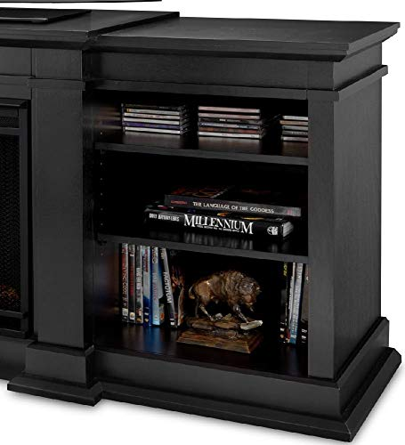 Real Flame Fresno G1200 X B Entertainment Unit in Black with Electric Fireplace 0 2