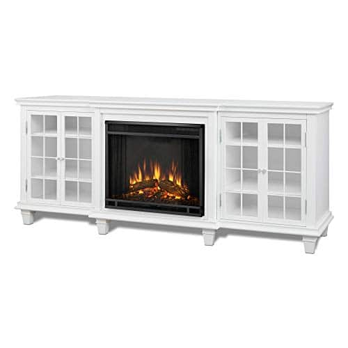 Real Flame Marlowe Fireplace TV Stand in Black 0 2