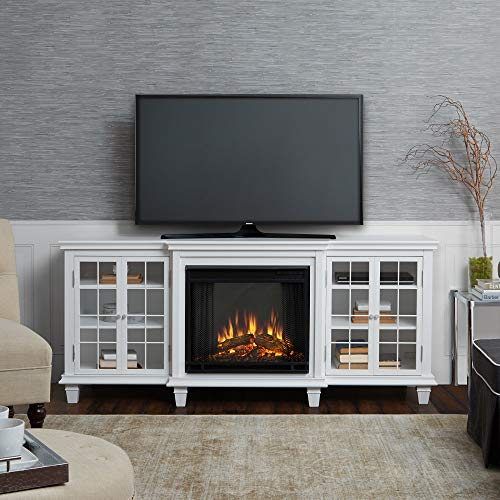 Real Flame Marlowe Fireplace TV Stand in Black 0 3