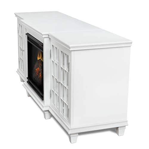 Real Flame Marlowe Fireplace TV Stand in Black 0 5