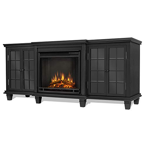 Real Flame Marlowe Fireplace TV Stand in Black 0