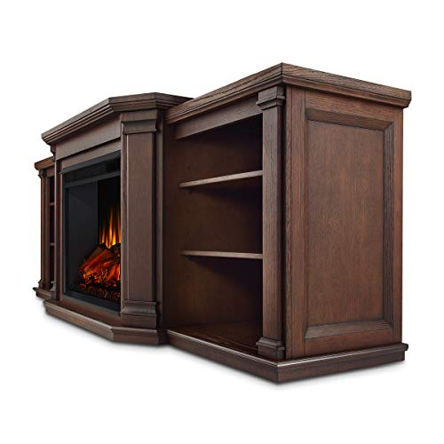 Real Flame Valmont Entertainment Electric Fireplace in Chestnut Oak 0 0