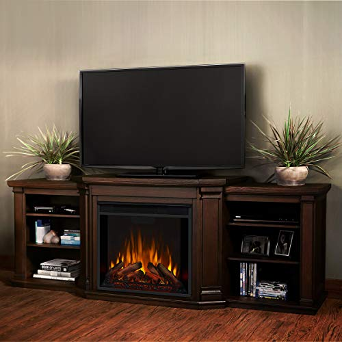 Real Flame Valmont Entertainment Electric Fireplace in Chestnut Oak 0 1