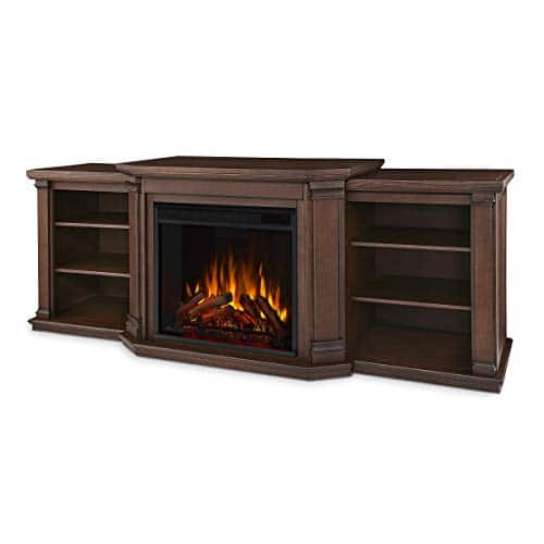 Real Flame Valmont Entertainment Electric Fireplace in Chestnut Oak 0