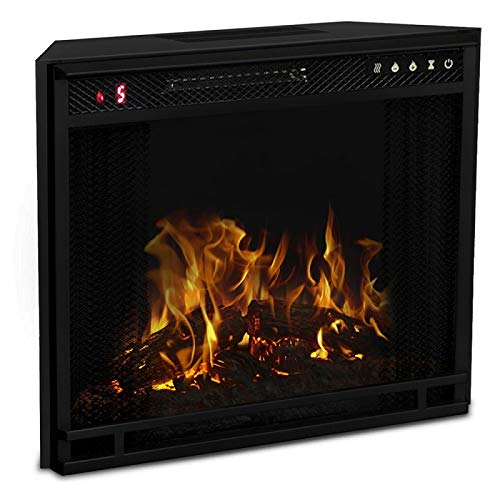 Regal Flame 23 Flat Ventless Heater Electric Fireplace Insert Black Frame 3 Color Changing Settings 0 0