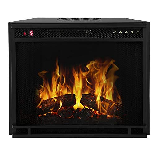 Regal Flame 23 Flat Ventless Heater Electric Fireplace Insert Black Frame 3 Color Changing Settings 0