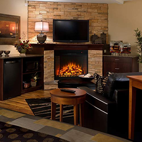 Regal Flame 26 Inch Curved Ventless Heater Electric Fireplace Insert 0 3