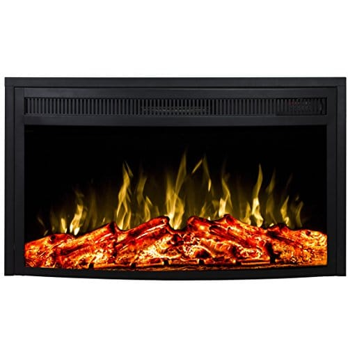 Regal Flame 26 Inch Curved Ventless Heater Electric Fireplace Insert 0