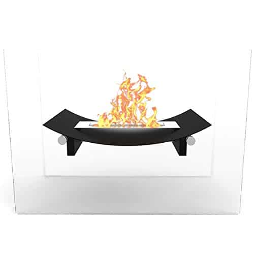Regal Flame Black Bow Ventless Free Standing Bio Ethanol Fireplace Can Be Used as a Indoor Outdoor Gas Log Inserts Vent Free Electric Outdoor Fireplaces Gel Propane Fire Pits 0 2