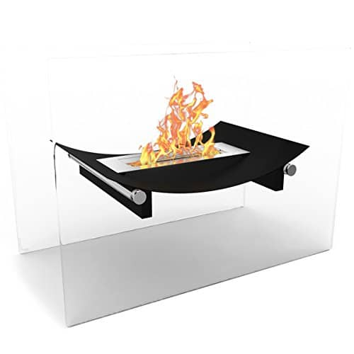 Regal Flame Black Bow Ventless Free Standing Bio Ethanol Fireplace Can Be Used as a Indoor Outdoor Gas Log Inserts Vent Free Electric Outdoor Fireplaces Gel Propane Fire Pits 0