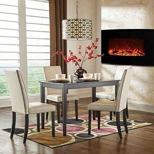 Regal Flame Broadway 35 Inch Ventless Heater Electric Wall Mounted Fireplace Log 0 0