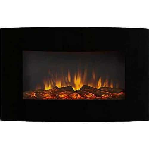 Regal Flame Broadway 35 Inch Ventless Heater Electric Wall Mounted Fireplace Log 0