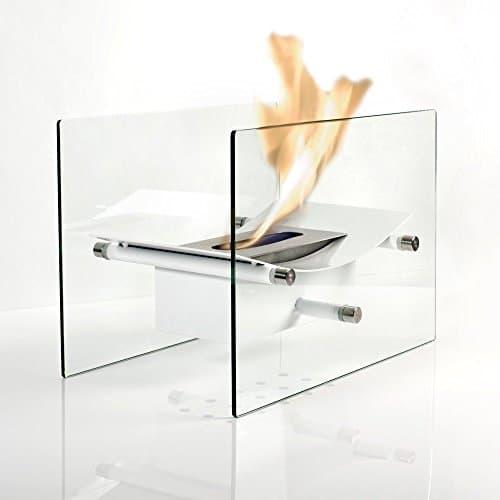 Regal Flame Cavo Tabletop Ventless Bio Ethanol Fireplace Finish White 0 3