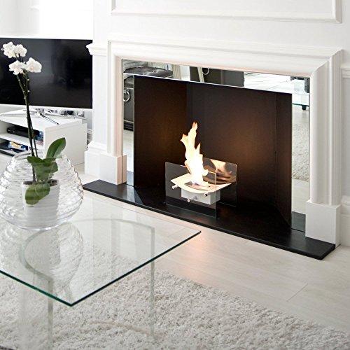Regal Flame Cavo Tabletop Ventless Bio Ethanol Fireplace Finish White 0 4