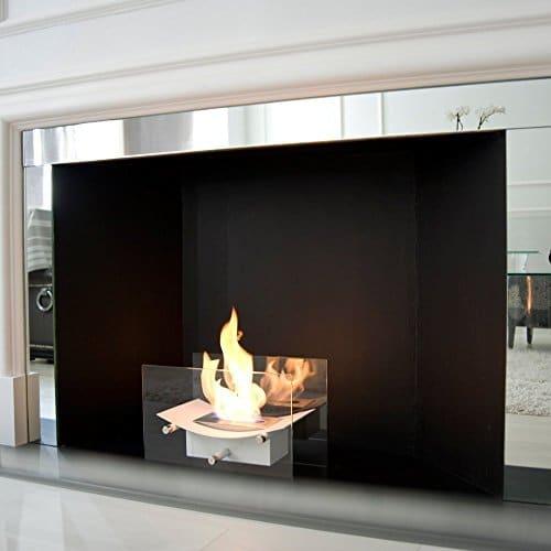 Regal Flame Cavo Tabletop Ventless Bio Ethanol Fireplace Finish White 0 5