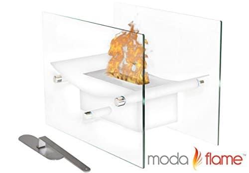Regal Flame Cavo Tabletop Ventless Bio Ethanol Fireplace Finish White 0