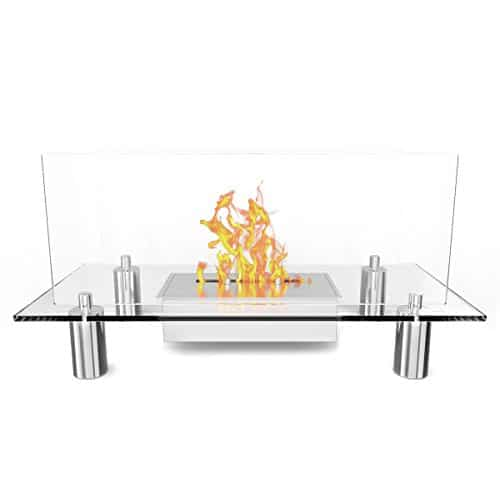 Regal Flame Delano Ventless Free Standing Bio Ethanol Fireplace Can Be Used as a Indoor Outdoor Gas Log Inserts Vent Free Electric Outdoor Fireplaces Gel Propane Fire Pits 0 0