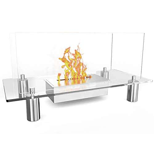 Regal Flame Delano Ventless Free Standing Bio Ethanol Fireplace Can Be Used as a Indoor Outdoor Gas Log Inserts Vent Free Electric Outdoor Fireplaces Gel Propane Fire Pits 0