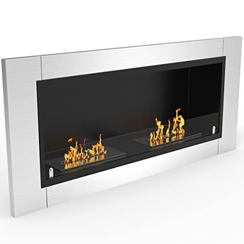 Regal Flame Fargo 43 Inch Ventless Built In Recessed Bio Ethanol Wall Mounted Fireplace 0 0