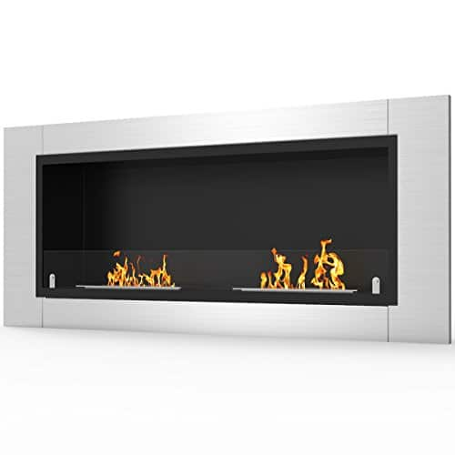 Regal Flame Fargo 43 Inch Ventless Built In Recessed Bio Ethanol Wall Mounted Fireplace 0 1