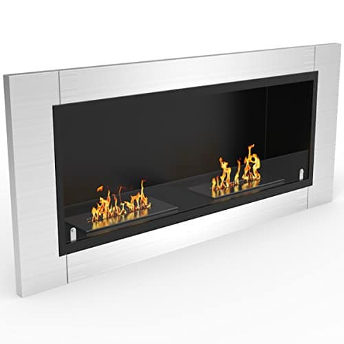 Regal Flame Fargo 43 Inch Ventless Built In Recessed Bio Ethanol Wall Mounted Fireplace 0 2