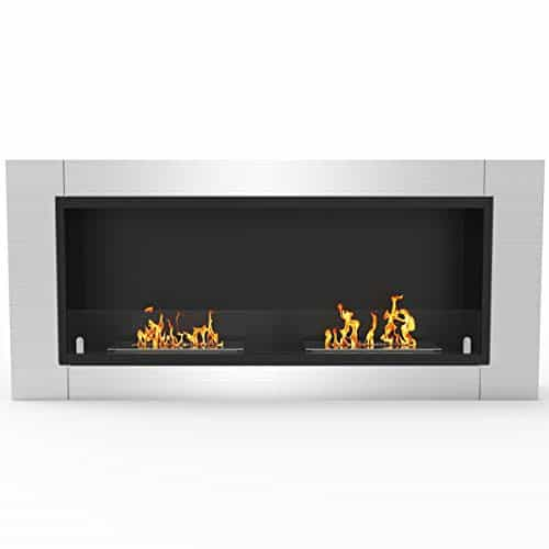 Regal Flame Fargo 43 Inch Ventless Built In Recessed Bio Ethanol Wall Mounted Fireplace 0