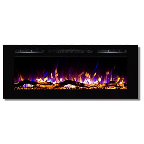 Regal Flame Fusion 50 Log Built in Ventless Recessed Wall Mounted Electric Fireplace Better Than Wood Fireplaces Gas Logs Inserts Log Sets Gas Space Heaters Propane 0 1