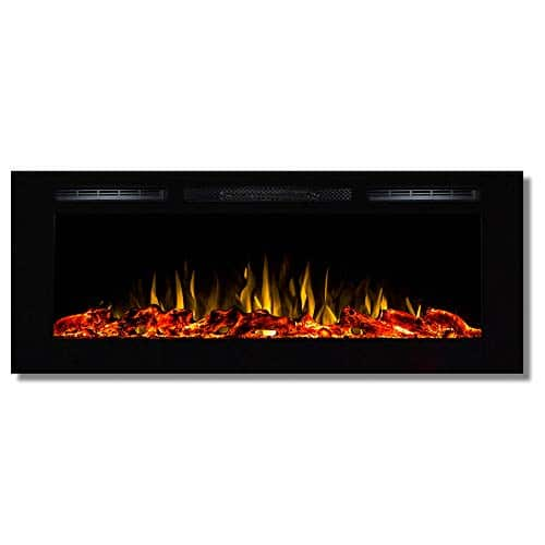 Regal Flame Fusion 50 Log Built in Ventless Recessed Wall Mounted Electric Fireplace Better Than Wood Fireplaces Gas Logs Inserts Log Sets Gas Space Heaters Propane 0
