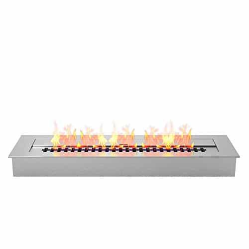 Regal Flame Indoor Outdoor PRO 24 Ventless Bio Ethanol Fireplace Burner Insert 48 Liter 0 0