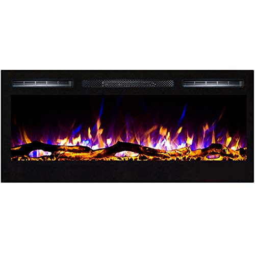 Regal Flame Lexington 35 Log Built in Wall Ventless Heater Recessed Wall Mounted Electric Fireplace Better than Wood Fireplaces Gas Logs Inserts Log Sets Gas Fireplaces Space Heaters 0 4