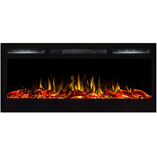 Regal Flame Lexington 35 Log Built in Wall Ventless Heater Recessed Wall Mounted Electric Fireplace Better than Wood Fireplaces Gas Logs Inserts Log Sets Gas Fireplaces Space Heaters 0