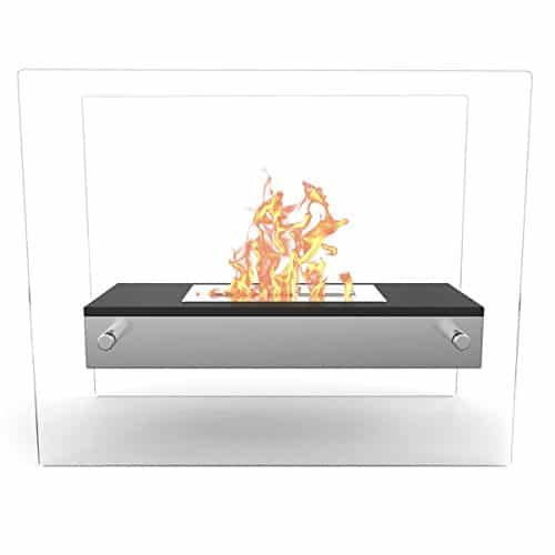 Regal Flame Vista Ventless Indoor Outdoor Fire Pit Tabletop Portable Fire Bowl Pot Bio Ethanol Fireplace in White Realistic Clean Burning like Gel Fireplaces or Propane Firepits 0 0