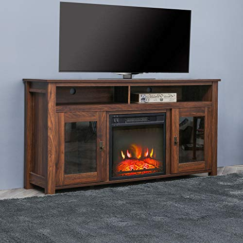 Romayard Electric Fireplace TV Stand Console for TVs up to 60 Electric Fireplace Heater Entertainment Center 60 0 2