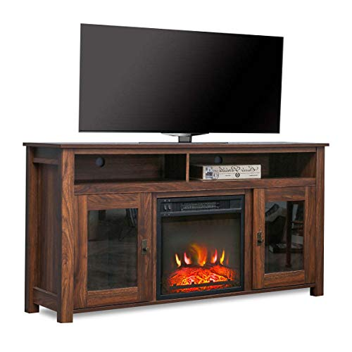Romayard Electric Fireplace TV Stand Console for TVs up to 60 Electric Fireplace Heater Entertainment Center 60 0