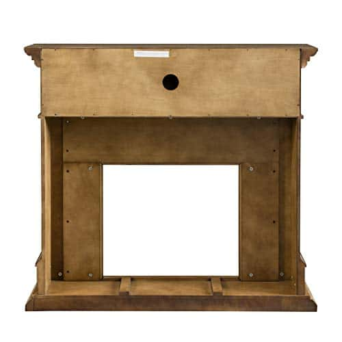 SEI Furniture Jayben Alexa Enabled Smart Media Fireplace Faux Stone Grey 0 2
