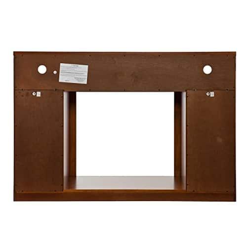 SEI Furniture Media Electric Fireplace Television Media Stand Glazed Pine Wood Finish 0 3