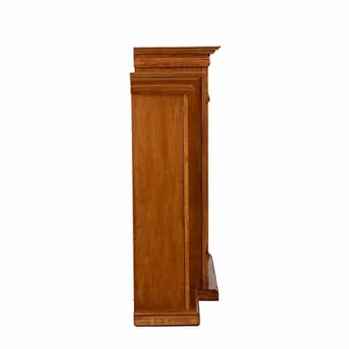 SEI Furniture Southern Enterprises Tennyson Electric Fireplace with Bookcase Glazed Pine Finish 0 1