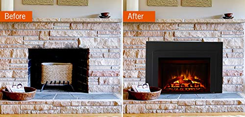 SIMPLIFIRE 30 Electric Fireplace Insert 44 x 32 Large Surround 0 1