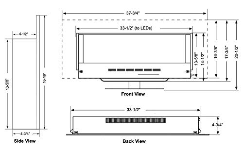 SIMPLIFIRE Wall Mount Electric Fireplace 38 0 4