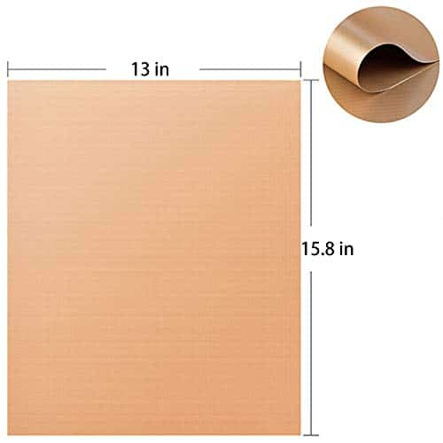SKYBD Copper Grill Mat Set of 3 Non Stick BBQ Grilling Baking Mats for Gas Charcoal Electric Grill Sheet Reusable and Easy to Clean 1575 x 13 Inch 0 0