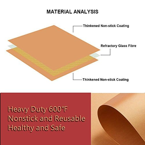 SKYBD Copper Grill Mat Set of 3 Non Stick BBQ Grilling Baking Mats for Gas Charcoal Electric Grill Sheet Reusable and Easy to Clean 1575 x 13 Inch 0 1