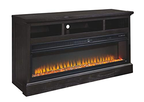Signature Design by Ashley Entertainment Accessories Wide Fireplace Insert Black 0 1