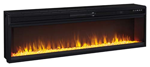Signature Design by Ashley Entertainment Accessories Wide Fireplace Insert Black 0