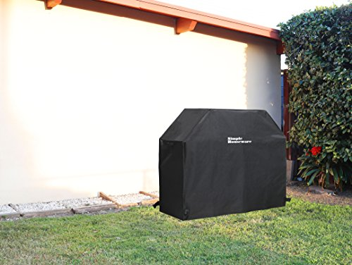 Simple Houseware 58 inch Waterproof Heavy Duty Gas BBQ Grill Cover Weather Resistant Polyester 0 3