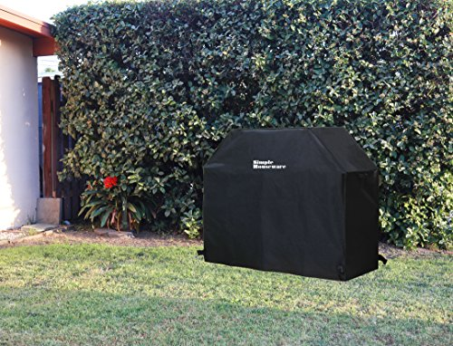 Simple Houseware 58 inch Waterproof Heavy Duty Gas BBQ Grill Cover Weather Resistant Polyester 0 5