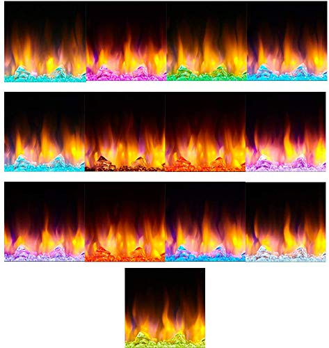 SimpliFire Allusion 48 Inch Recessed Linear Electric Fireplace SF ALL48 BK 0 3