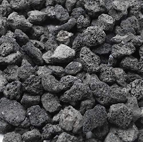 Skyflame Black Natural Stones Lava Rock Granules for Gas Fire Pit Fireplace Gas Log Set BBQ Grills Garden Landscaping Decoration Cultivation of Potted Plants Indoor Outdoor Use 5 lb Bag 0 0