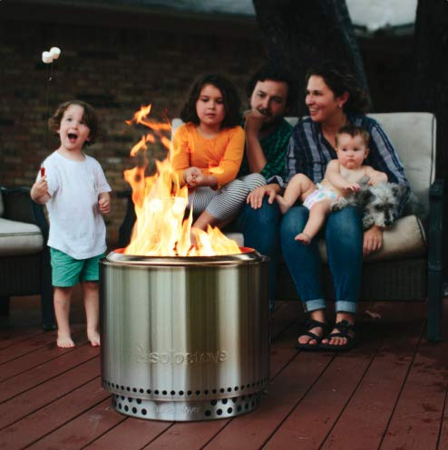 Solo Stove Bonfire Stainless Steel Wood Burning Smokeless Bonfire with Stand and Carrying Case Large 195 inch 0 0